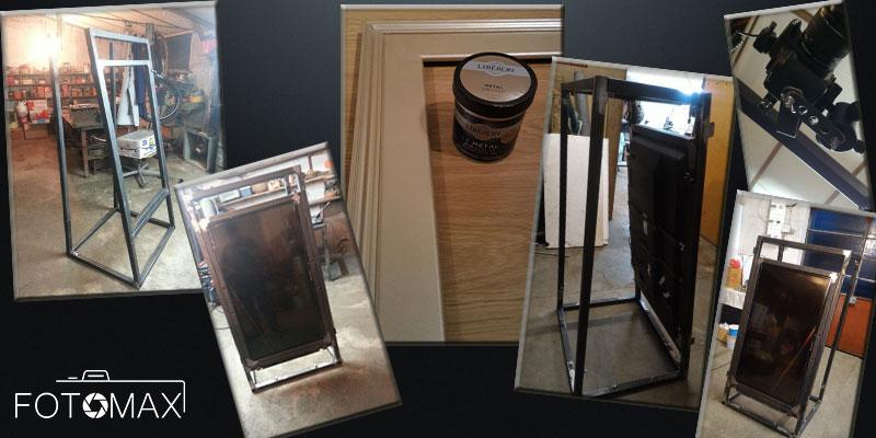 Etapes de la fabrication du miroir magique Fotomax Strasbourg